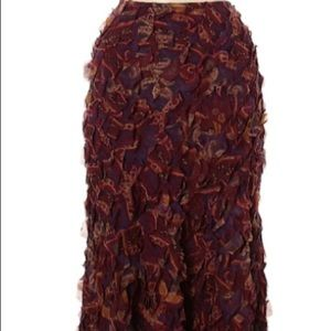 Ralph Lauren Black Label silk skirt.